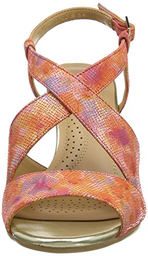 Van Dal Allora, Sandalias con Cuñas Mujer Naranja (Coral Blossom)