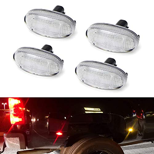 - iJDMTOY Clear Lens Amber/Red Full LED Trunk Bed Marker Lights Set For 2011-up Ford F250-F550 Super Duty Truck Double Wheel Side Fenders, Powered by Total 48 LED