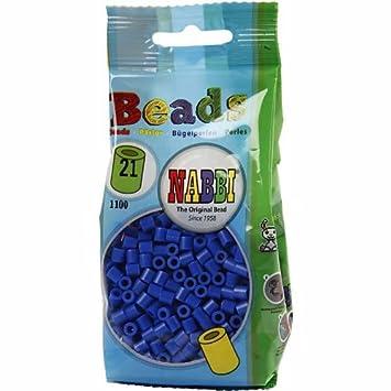 Nabbi® Bügelperlen 1.100 Stk ~Ø 5 x H 5 mm hellblau Nr.23