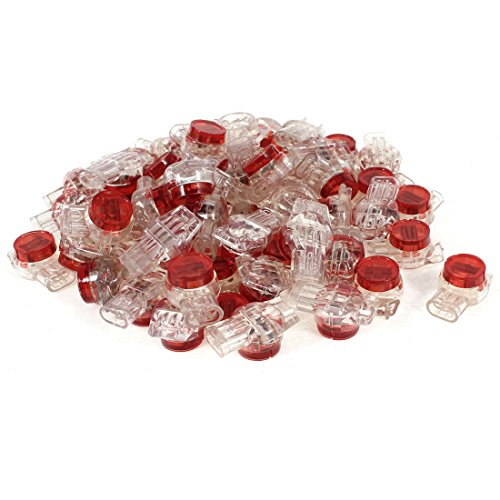 Uxcell a14031900ux0663 Gel Splice UR Connector 3 Port Wire Connectors Red Clear (Pack of 55)