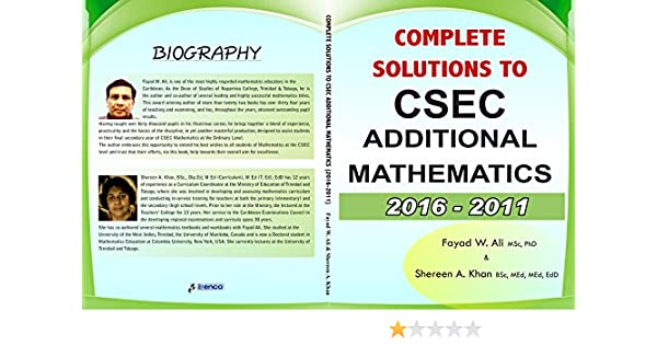 Amazon complete solutions to csec additional mathematics 2016 amazon complete solutions to csec additional mathematics 2016 2011 ebook fayad w ali ali shereen khan kindle store fandeluxe Gallery
