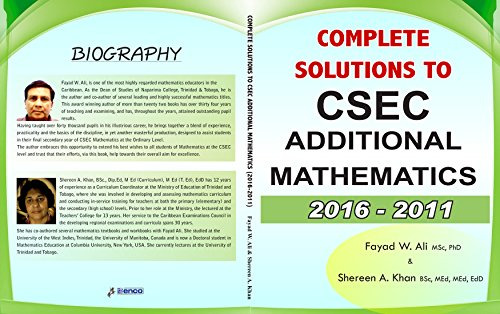 Amazon complete solutions to csec additional mathematics 2016 complete solutions to csec additional mathematics 2016 2011 by ali fayad w fandeluxe Images