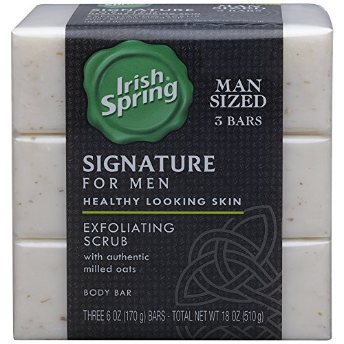 (Irish Spring Signature Exfoliating Bar Soap, 6oz, 3 Count)