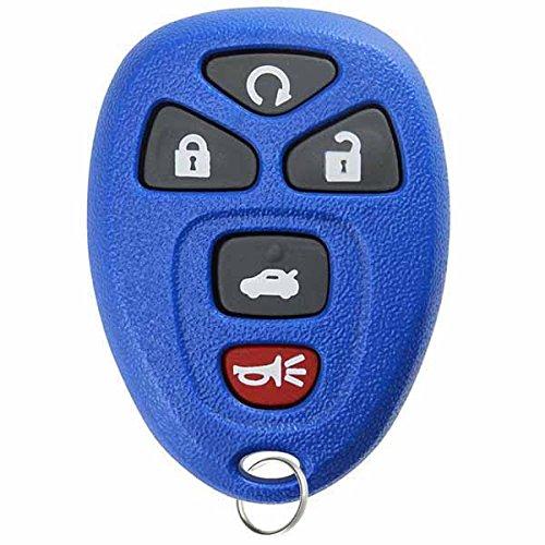 (KeylessOption Keyless Entry Remote Control Car Key Fob Replacement 15912860 -Blue)