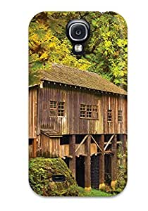 Hot Design Premium WmgPwBR1744IMVes Tpu Case Cover Galaxy S4 Protection Case(the Wooden House)