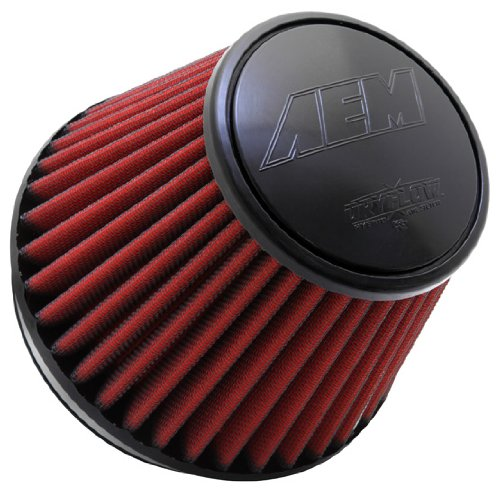 AEM 21-210EDK Universal DryFlow Clamp-On Air Filter: Round Tapered; 6 in (152 mm) Flange ID; 6 in (152 mm) Height; 7.5 in (191 mm) Base; 5.125 in (130 mm) Top
