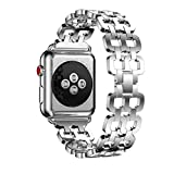 Besde Stainless Steel Strap Wrist Band Replacement For Apple Watch Series 3 38/42mm (38mm, silver)