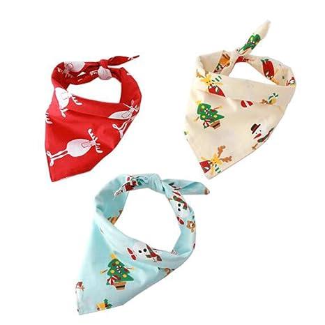 LIYUAN Pañuelo de algodón con diseño de triángulo para Perros, Gatos y Mascotas