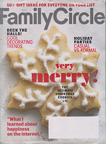 Family Circle December 2017 Very Merry ! The Ultimate Christmas Cookies (Christmas Circle Family Magazine)
