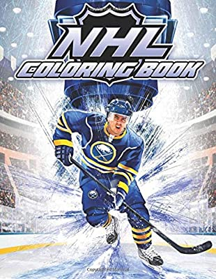 NHL Coloring Book: Famous Players and Team Logos of National ...