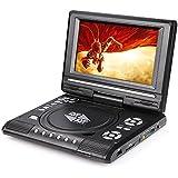 """FidgetFidget CD Player MP3 TV AV SD USB FM Game 270° Swivel 9.8"""" Inch LCD Portable DVD"""