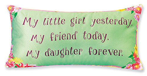 Mother Daughter Gift Toss Pillow - Sentimental Saying Throw Pillow, 12