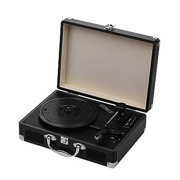 Muslady Tocadiscos Portátil Classic Suitcase Style 3 ...