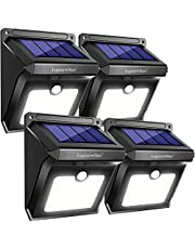 Solar Lights Outdoor, Luposwiten 28 LED Solar Security Lights with Motion Sensor, Solar Waterproof Wall Light for Outside Garden, Fence, Patio,Yard, Walkway, Pathway [4 Piece]