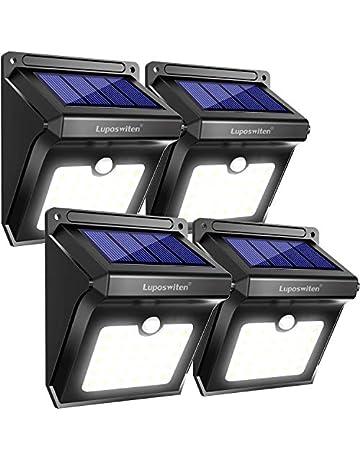 Luposwiten Focos Solares, 28LED Luz Solar Exterior Lámparas con Sensor de Movimiento Iluminacion Exterior para