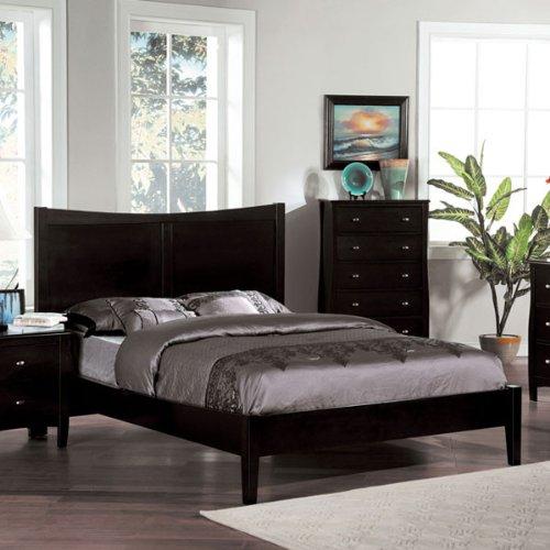 24/7 Shop at Home 247SHOPATHOME IDF-7805EK Platform Bed, King, Espresso