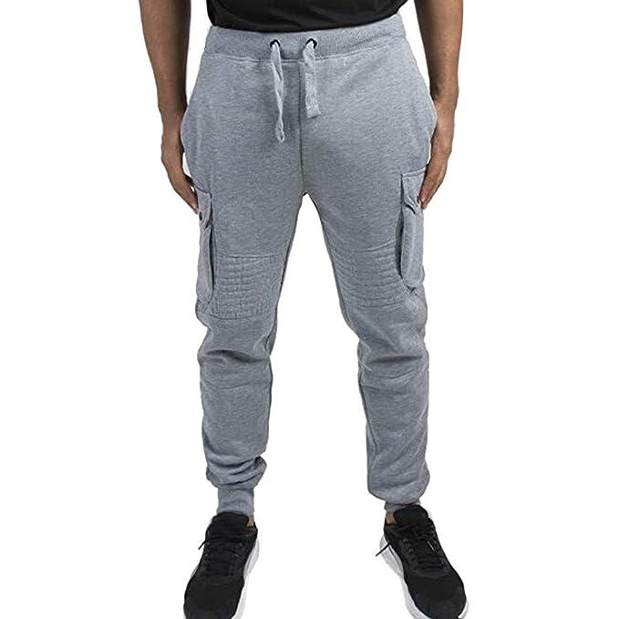 YanHoo Militar Camuflaje Mallas Pantalones de chándal Sueltos sólidos Ocasionales del Bolsillo del Deporte de los Hombres de la Moda Pantalones Deportivos: ...