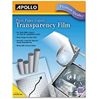 Plain Paper Copier Transparency Film, Removable Sensing Stripe, Clear, 100/Box
