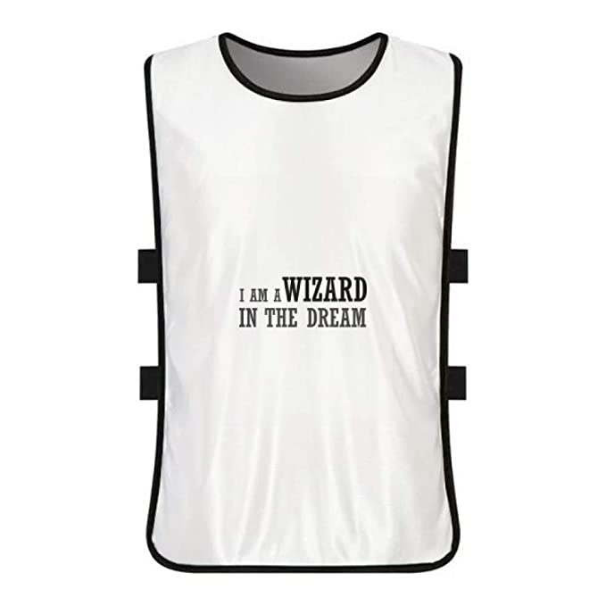 263d2f982ea Amazon.com: I Am A Wizard in The Dream White Training Vest Jerseys Shirt  Cloth: Clothing