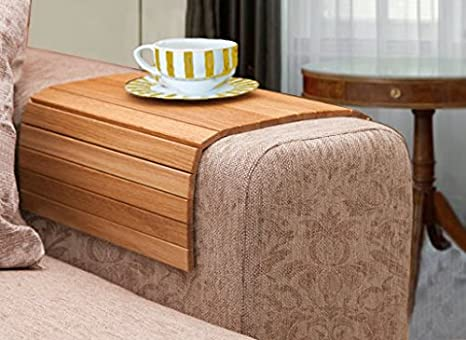 Bamboo Sofa Tray Laptop Mat IPhone Holder Food Tray