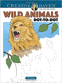 Amazon Com Creative Haven Wild Animals Dot To Dot Adult Coloring