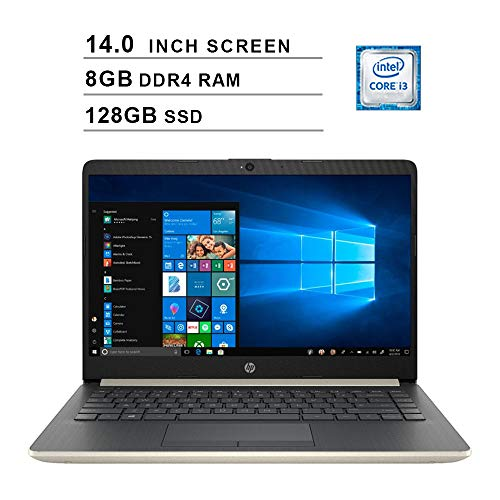 2019 Newest HP Premium 14 Inch Laptop (Intel Core i3-7100U, Dual Cores, 8GB DDR4 RAM, 128GB SSD, WiFi, Bluetooth, HDMI…