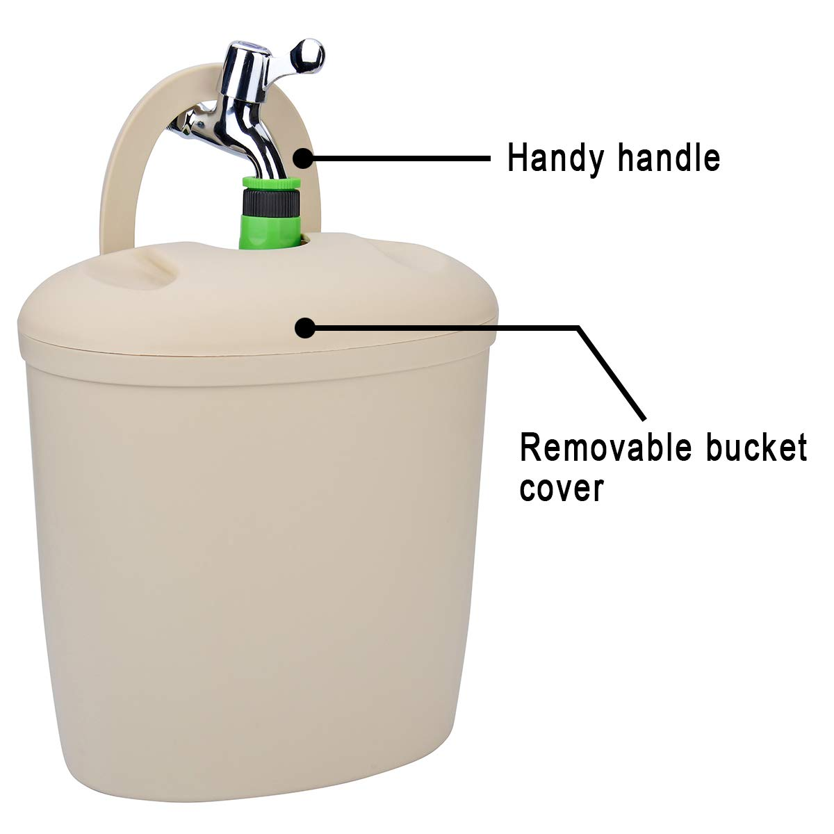 LAISHOW 1 Pack Garden Hose Bucket Holder with Self Draining Feature for Storing Expandable Garden Hoses