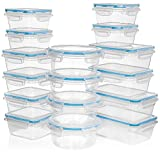HUGE 32 Pc Set (16 Containers set) + 14 Measuring Cups & Spoons set - Plastic Food Storage Containers w/Lids -FREE 27 Labels & Marker Included -Airtight Leak Proof Easy Snap Lock & BPA Free Containers