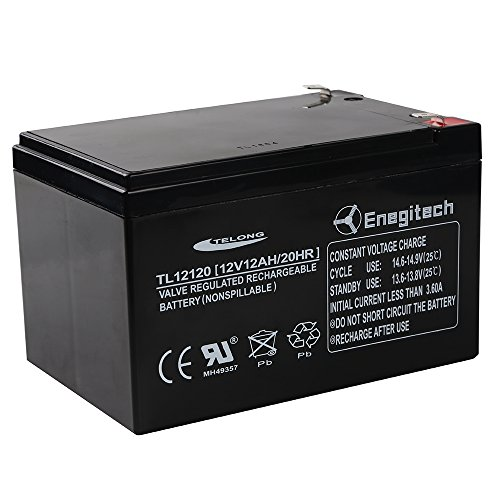 Powermall 12V 12Ah 20 HR SLA Battery Rechargeable Sealed Lead Acid Backup Batteries Replacement with F2 Terminal