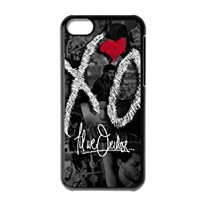 S9F86 The Weeknd XO W5M9JB funda iPhone funda caso 5c teléfono celular cubren CZ5GAE0PX negro