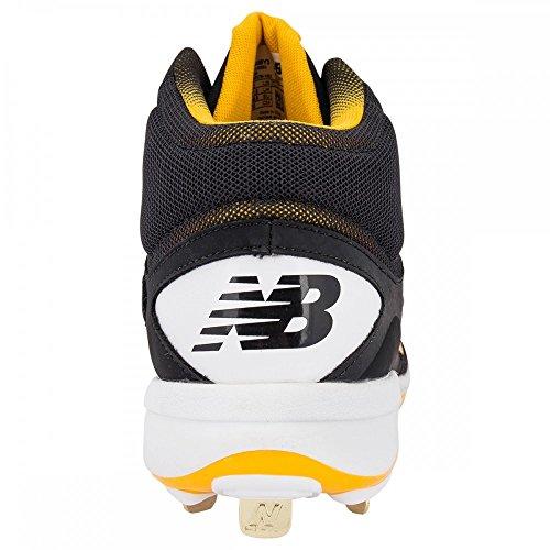 New Balance Zapatillas De Béisbol M4040v3 Cleat Black-yellow