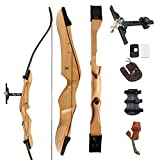 "SinoArt 68"" Takedown Recurve Bow Adult Archery Competition Athletic Bow Weights 18 20 22 24 26 28 30 32 34 36 LB RIGHT HANDED Archery Kit for Outdoor Training Hunting Shooting"