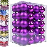 60 Weihnachtskugeln lila - matt und glänzend