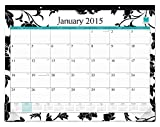 Cheap Blue Sky 2015 Barcelona Monthly Desk Pad Calendar, Case Bound, Black, 22 x 17 Inches