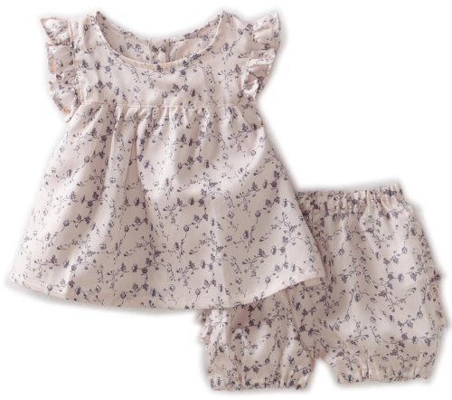 WHEAT Little Girls' Ida Top with Nappy Pant