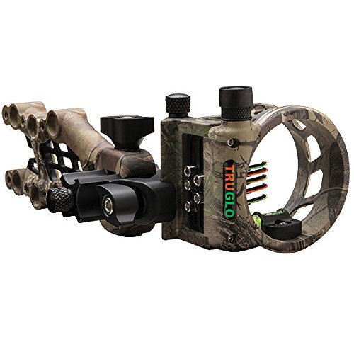 Sight Tru Bow (TRUGLO Carbon Hybrid Lightweight Carbon/Aluminum Hybrid Bow Sight, Micro-Adjustable, Realtree Xtra Camo)