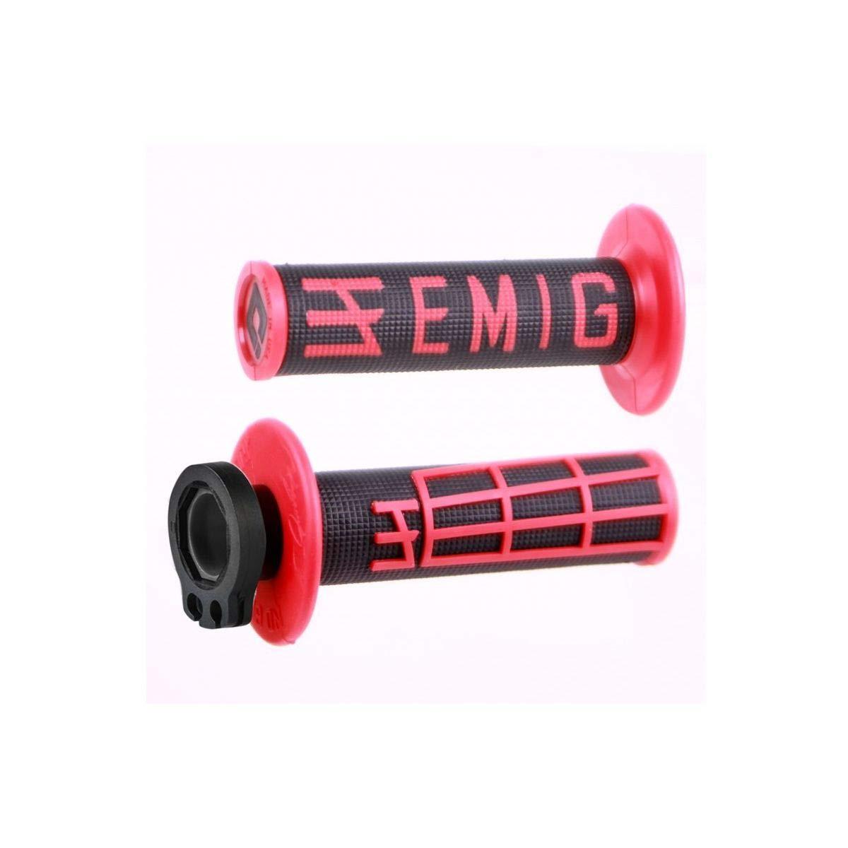 Racing ODI Emig Lock-On Blue w//White Grip 2T /& 4T