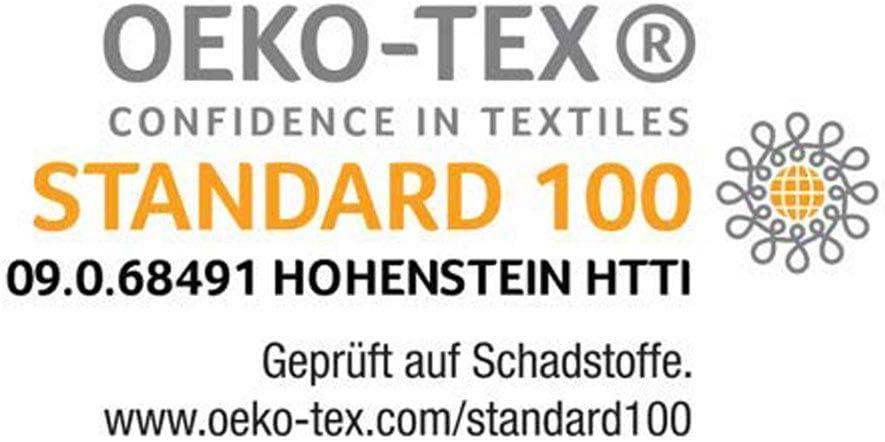 Ravensberger Matratzen/® Baumwoll-Doppeltuch-Bezug mit 4-seitigem Rei/ßverschluss geeignet f/ür Kernh/öhe 14-16 cm Matratzenbezug 80 x 200 cm