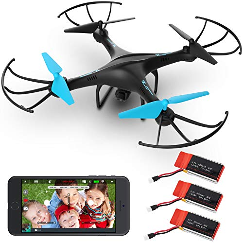 Force1 FPV Drones with Camera - U45WF HD VR WiFi Video Drone for Beginners, Quadcopter Gifts for Men