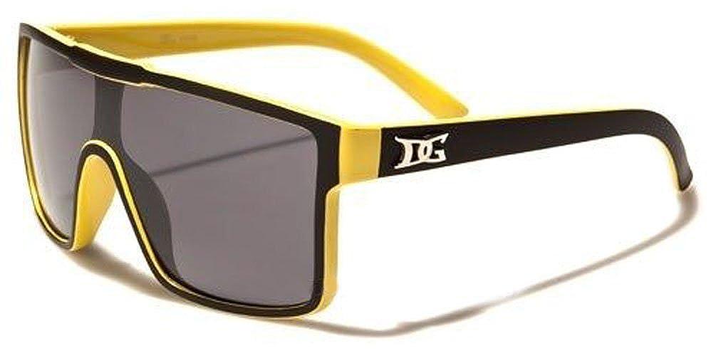 D1050 Dg Eyewear Turbo Aviator Mens Fashion Black Sunglasses yellow, gradient