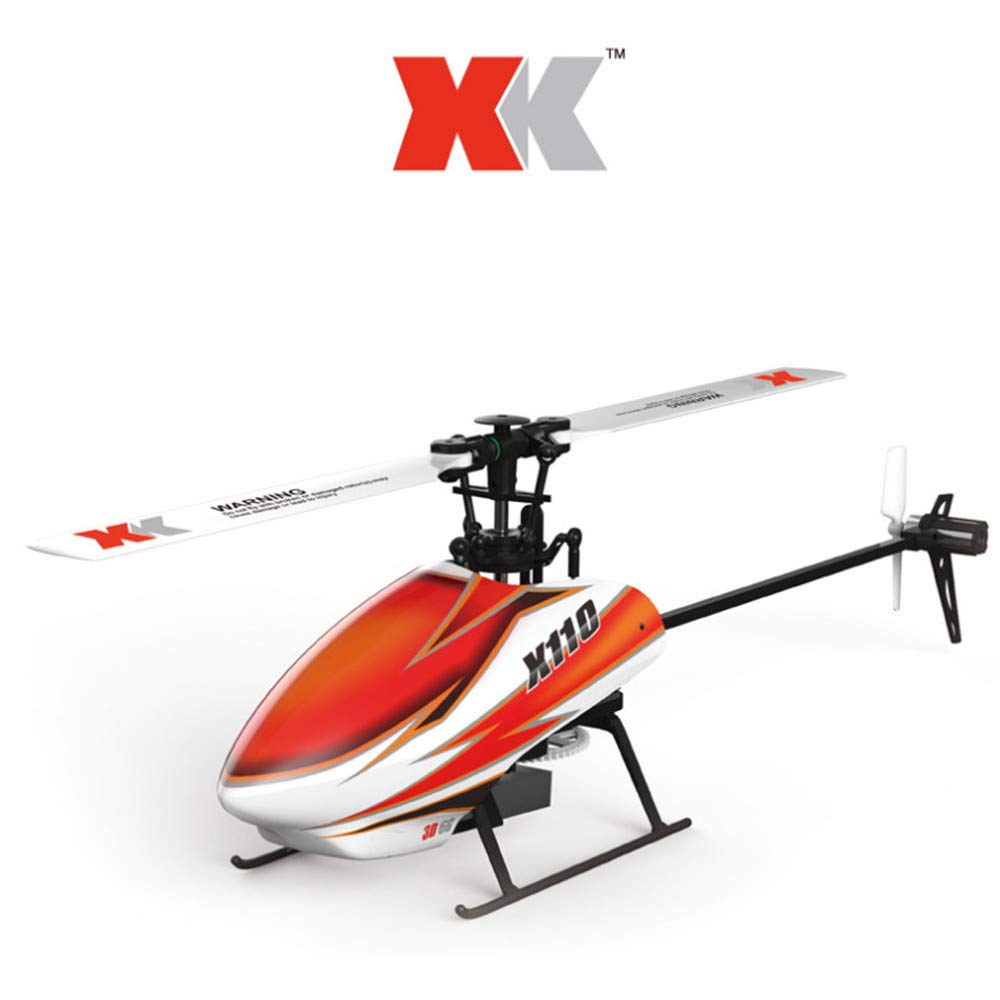 hongXIE5 R/C Helicopter with Gyro-WLToy RC 3D Heli Blast K110-B 6CH 3D 6G System Brushless Motor RC Drone,3D and 6G Modes