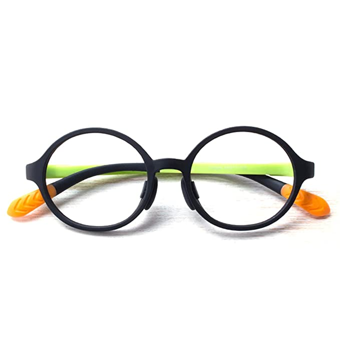 2ba9d7f28a Amazon.com  Fantia Candy colors eyeglass frame children eyewear round frames  for boy and girl (A)  Clothing