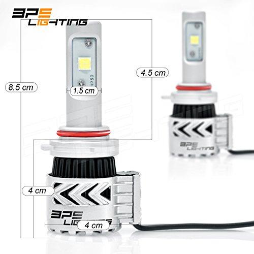 BPS Lighting G8 LED Headlight Bulbs w/ Clear Arc-Beam Kit ...