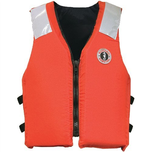 (Mustang Classic Industrial PFD, Orange, Large)