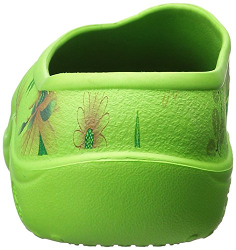 DAWGS Womens Various Styles Slip On Clog Shoe Yard Dawg 3207 Green / Multi AsoNg