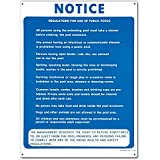 Poolmaster 40322 Commercial Pool Rules Sign For Residential Or Commercial Pools