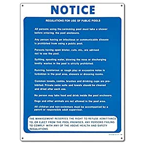 Poolmaster 40368 public pool regulations sign - Residential swimming pool regulations ...