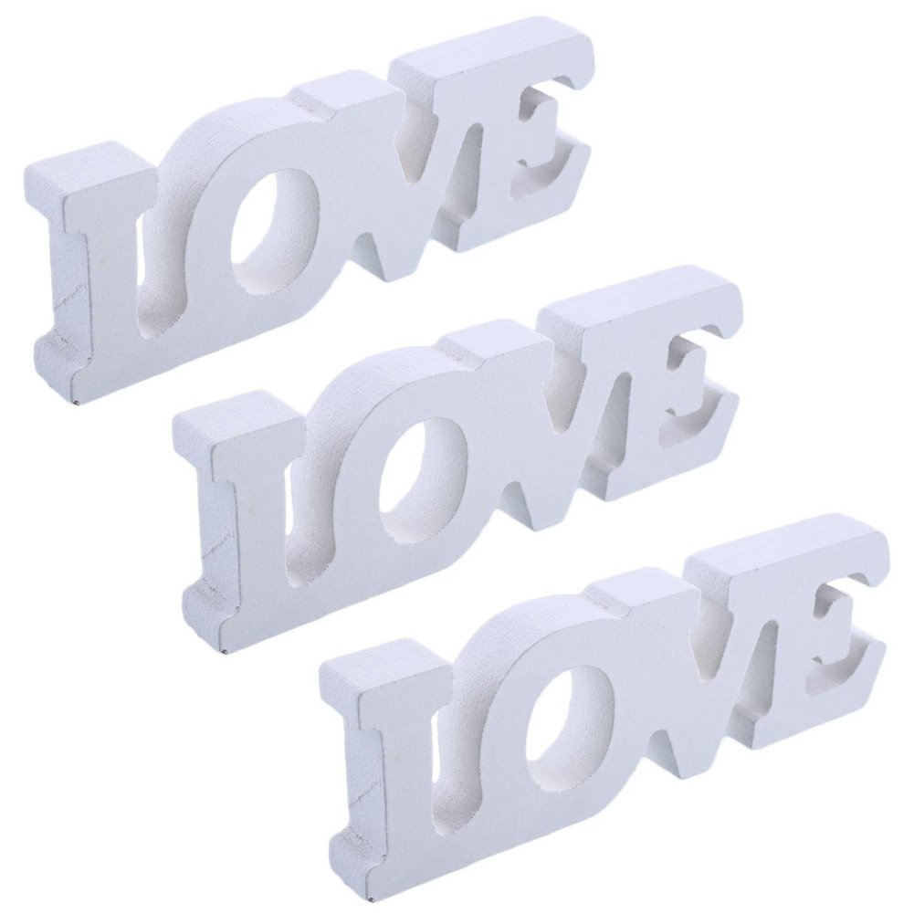 Rosepoem Craft Wood Wooden Letters Bridal Wedding Party Birthday Toys Home Decorations Love 1 Pack Kicode