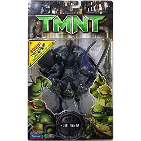 Amazon.com: TMNT Movie Foot Ninja Action figure with PC Game ...