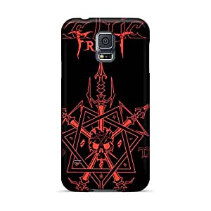 Protective Cell-phone Hard Covers For Samsung Galaxy S5 (SXt1827FbzP) Unique Design High Resolution Cryptopsy Band Skin